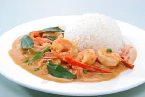 Thai red curry prawn